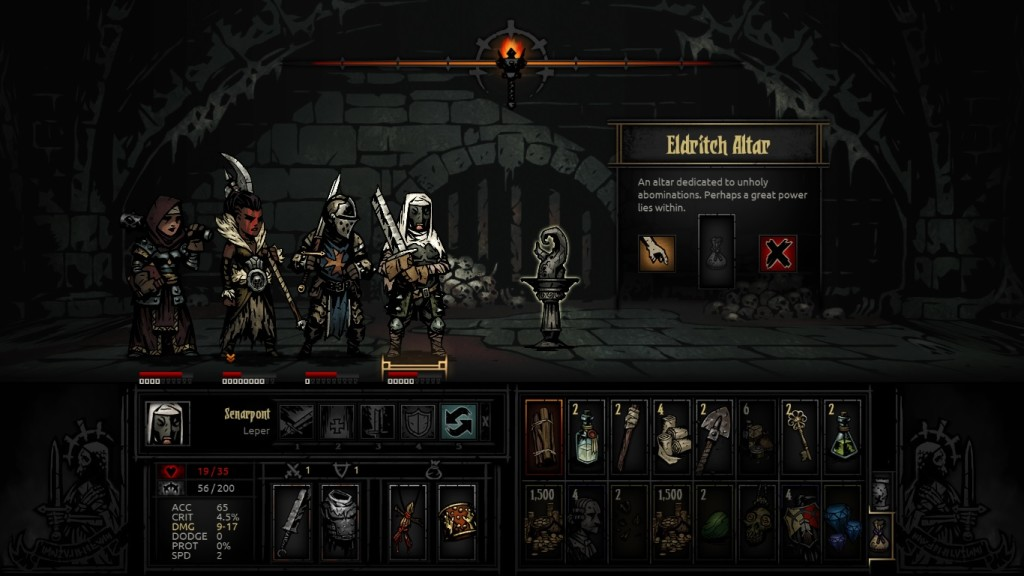 Even looting is a tricky proposition in the Darkest Dungeon.
