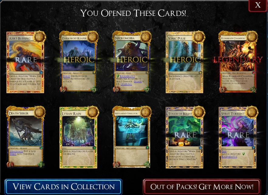 Earning cards is easy, which feels like an essential part of any truly free-to-play card game.